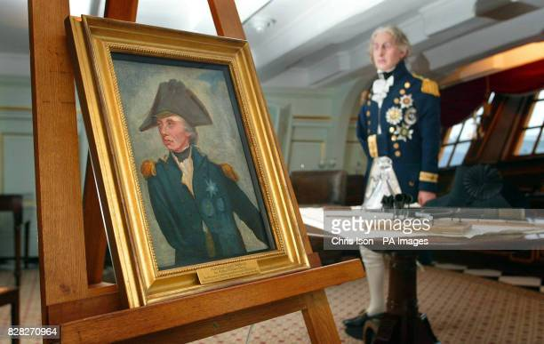 A portrait of Admiral Lord Nelson stands in the Great Cabin aboard HMS Victory in Portsmouth Tuesday December 20 2005 The portrait of Britain's most...