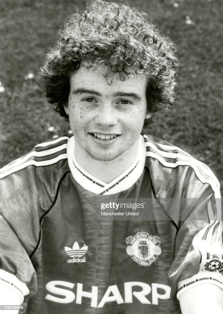 A portrait of Adrian Doherty of Manchester United taken at the club photocall on July 01, 1990 in Manchester, England.