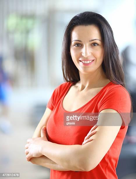 Porträt eines Erwachsenen lächelnde Frau,