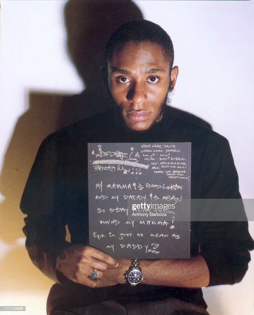 Portrait of African American actor and hip hop star Mos Def, New York, 2000.