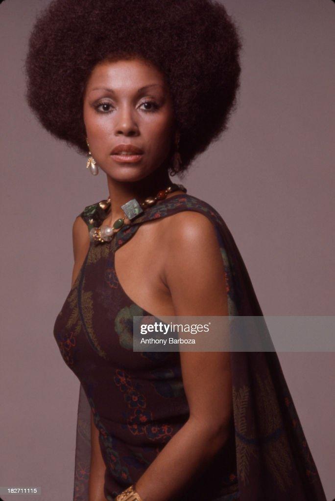 Portrait of African American actress Diahann Carroll, New York, 1973.