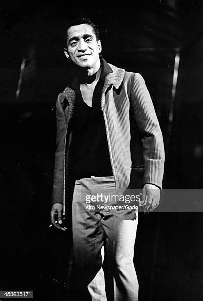 Portrait of African American entertainer Sammy Davis Junior 1970