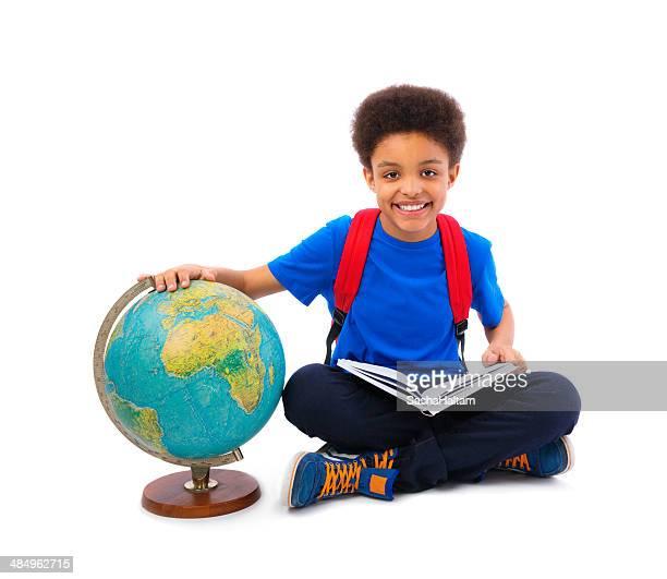 Portrait of African American school boy