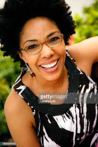 Portrait of African ethncity female wearing glasses