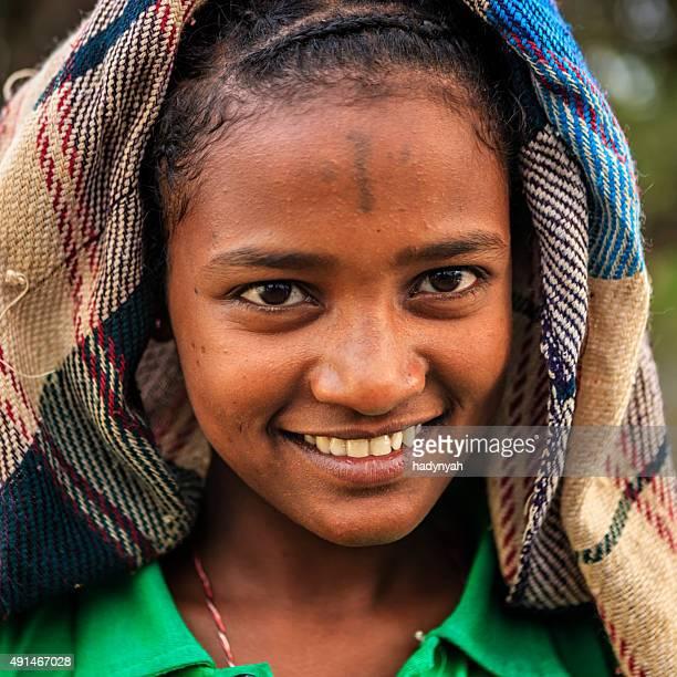 Portrait de jeune fille africaine, Éthiopie, Afrique