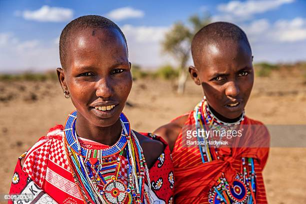 Portrait of African women from Maasai tribe, Kenya, Africa