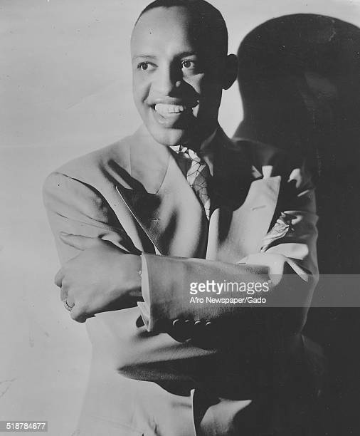 Portrait of AfricanAmerican jazz vibraphonist pianist percussionist bandleader and actor Lionel Hampton 1957
