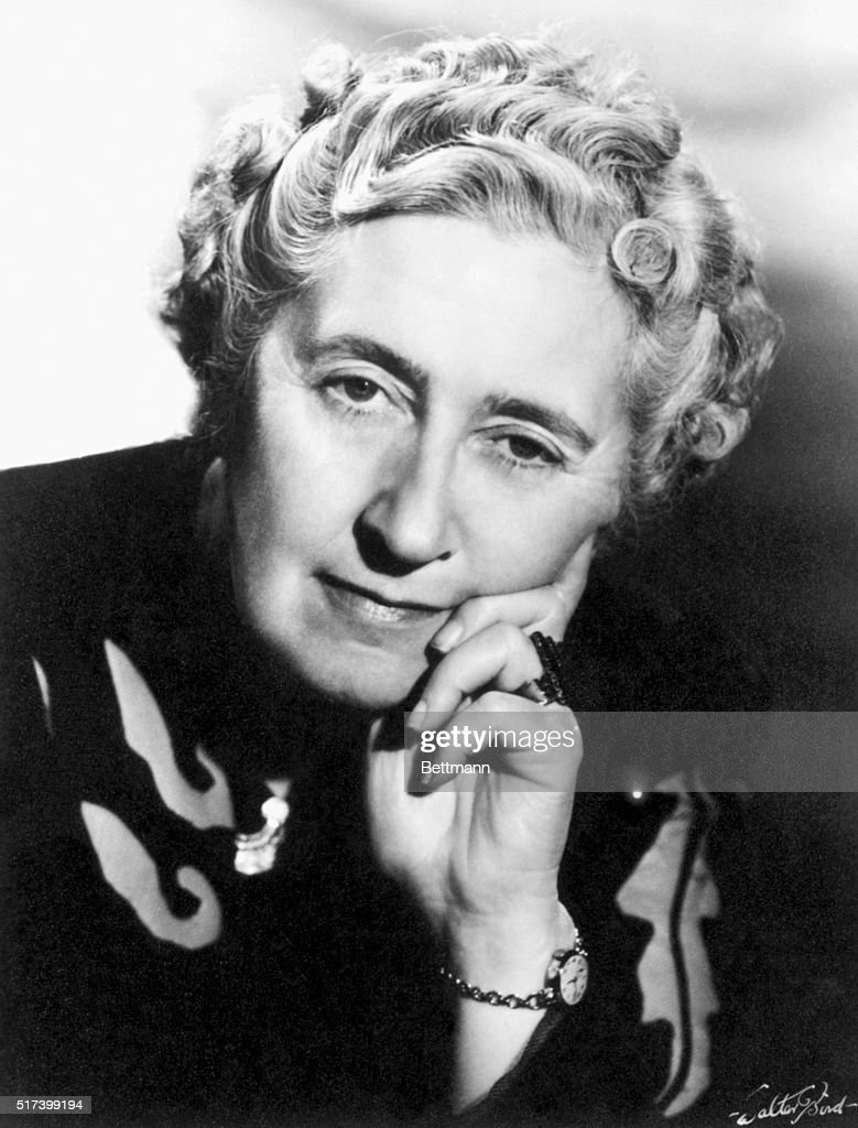 Portrait of Agatha Christie (1890-1976), English writer. Undated Photograph.