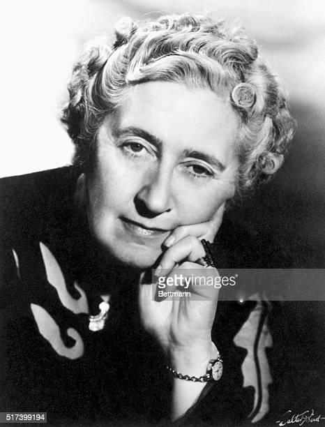 Portrait of Agatha Christie English writer Undated Photograph