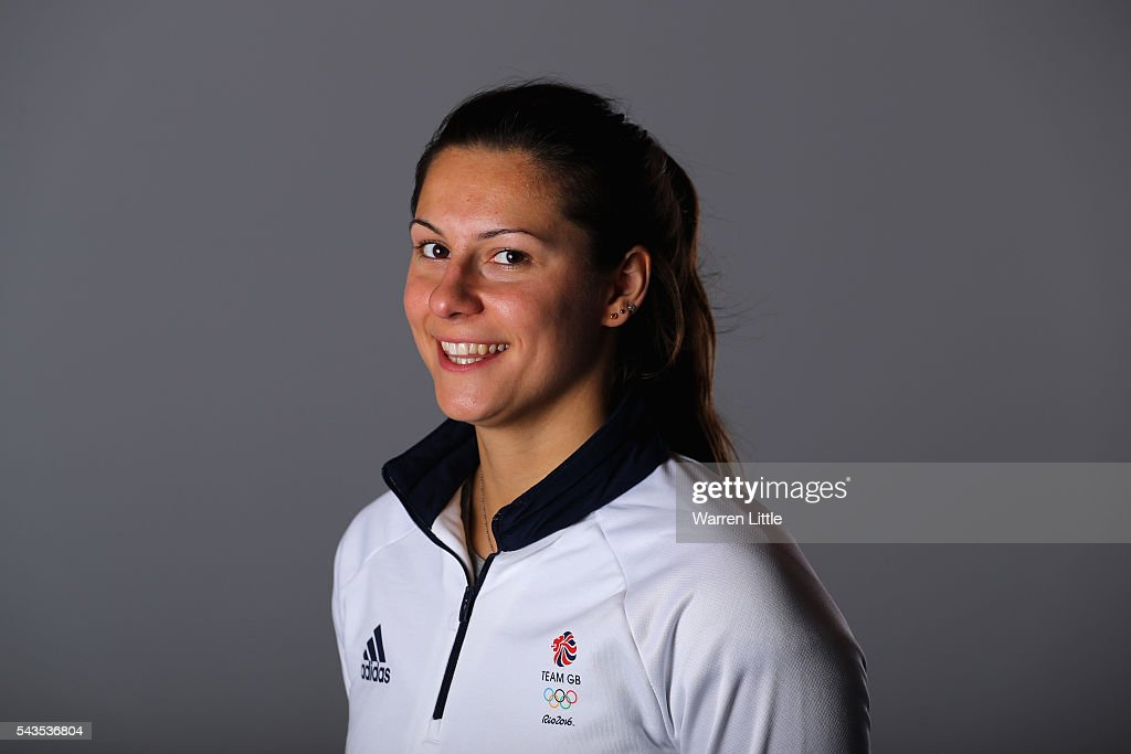 A portrait of <a gi-track='captionPersonalityLinkClicked' href=/galleries/search?phrase=Aimee+Willmott&family=editorial&specificpeople=7137431 ng-click='$event.stopPropagation()'>Aimee Willmott</a> a member of the Great Britain Olympic team during the Team GB Kitting Out ahead of Rio 2016 Olympic Games on June 29, 2016 in Birmingham, England.