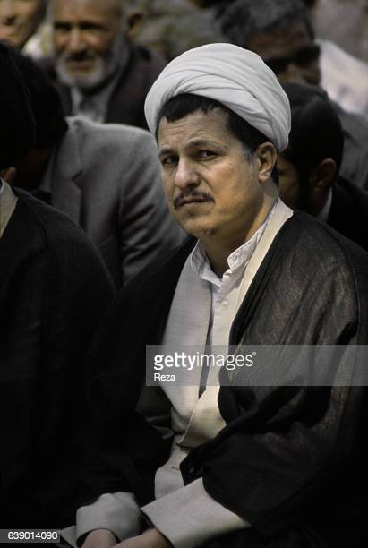 Portrait of Akbar Hashemi Rafsanjani an influential Iranian politician and one of the architects of the Islamic Republic of which he was its fourth...