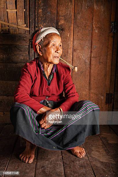 Portrait of Akha woman in Northern Laos