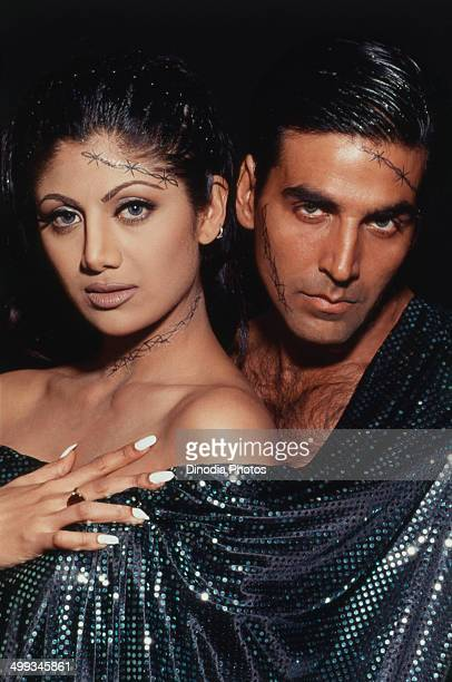 1999 Portrait of Akshay Kumar and Shilpa Shetty