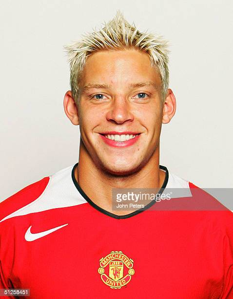 A portrait of Alan Smith at the annual club photocall at Old Trafford on August 22 2004 in Manchester England