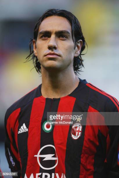 Portrait of Alessandro Nesta of AC Milan during the UEFA Champions League match between Deportivo La Coruna and AC Milan at the Estadio Municipal de...