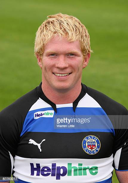 A portrait of Alex Crockett of Bath during an open media day at The Recreation Ground on August 7 2008 in Bath England