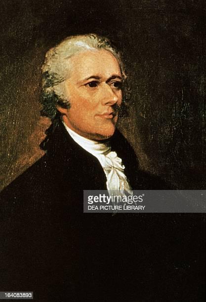 Portrait of Alexander Hamilton American politician Painting by John Trumbull