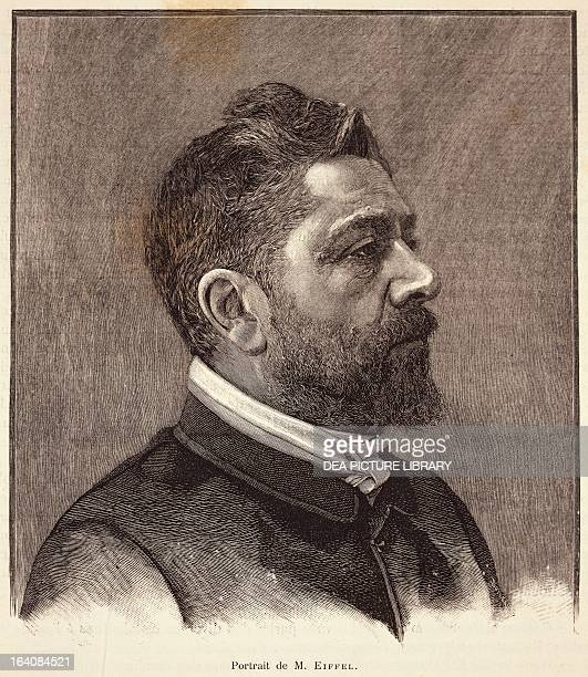 Portrait of Alexandre Gustave Eiffel French engineer and entrepreneur Print