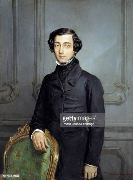 Portrait of Alexis Charles Henri Cleral de Tocqueville Minister of Foreign Affairs during the Second Republic Painting by Theodore Chasseriau 1850...