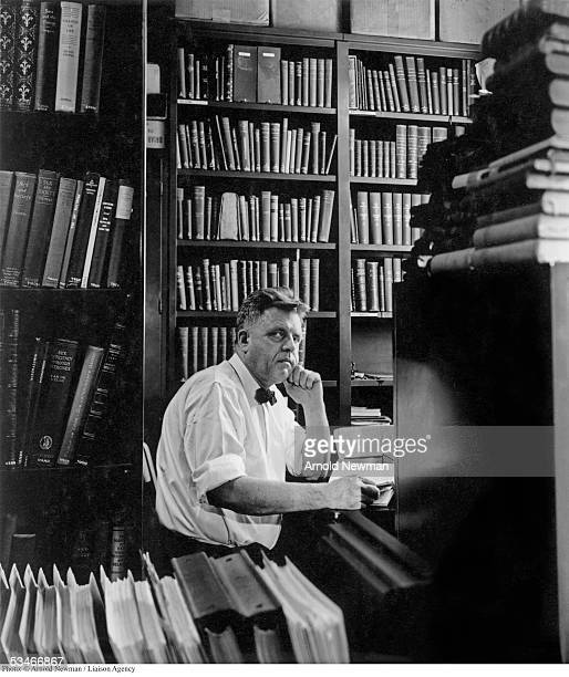 Portrait of Alfred Kinsey professor zoologist student of human behavior at the University of Indiana April 15 1948 in Bloomington Indiana His studies...