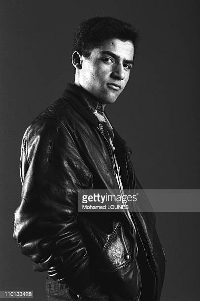 Portrait of Algerian singer Cheb Mami on May 29 1986
