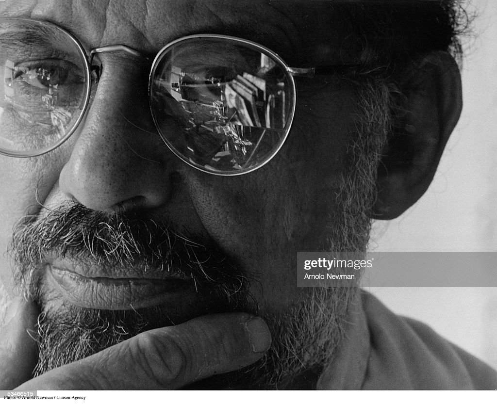 Portrait of Allen Ginsberg, American beat poet, November 1, 1985 in New York City. He is best known for his controversial poem 'Howl' which attacked American values.