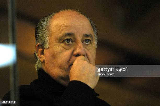 Portrait of Amancio Ortega Inditex Group president