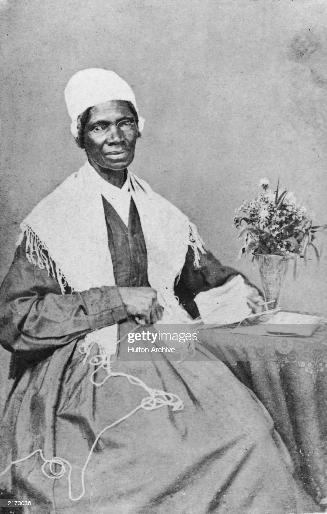 Portrait of American abolitionist and feminist Sojourner Truth (1797 - 1883), a former slave who advocated emancipation, c. 1880.