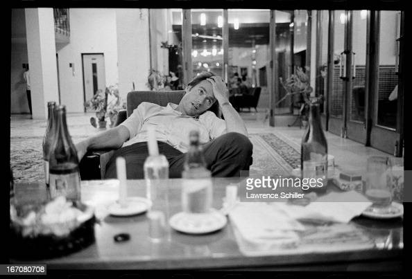 Portrait of American actor Clint Eastwood as he sits in a hotel lobby during a break in the filming of 'Two Mules for Sister Sara' Durango Mexico 1969