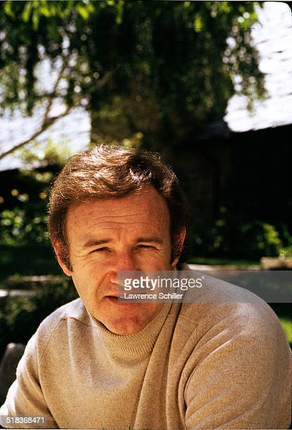 Portrait of American actor Gene Hackman as he poses outdoors California 1972