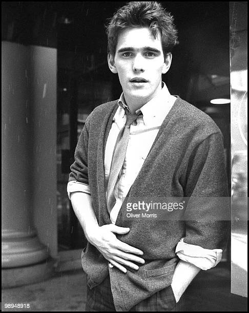 Portrait of American actor Matt Dillon as he poses on 57th Street New YorkNew York mid 1980s