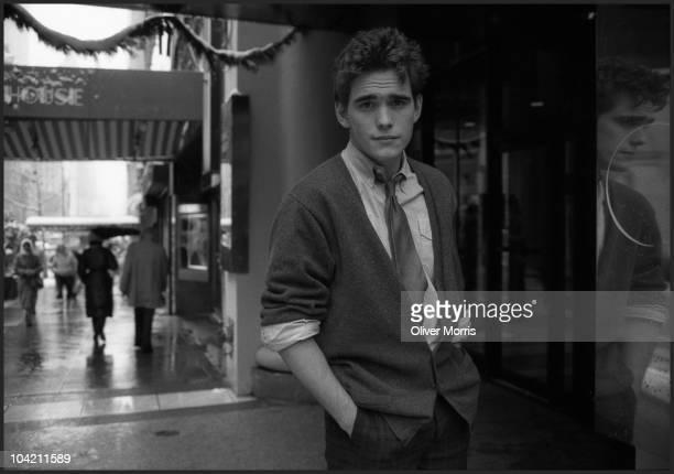 Portrait of American actor Matthew Raymond 'Matt' Dillon as he poses on 57th Street New YorkNew York mid 1980s