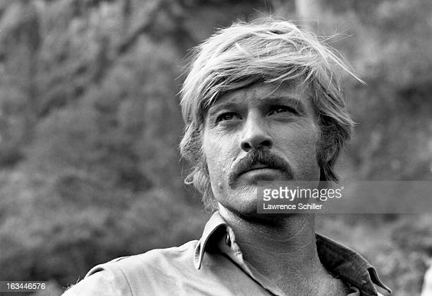 Portrait of American actor Robert Redford during the filming of 'Butch Cassidy and the Sundance Kid' Durango Mexico 1968