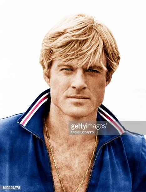 Portrait of American actor Robert Redford on the set of the film 'The Way We Were' 1973