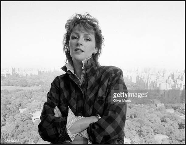 Portrait of American actress Bonnie Bedelia while posing in Manhattan overlooking Central Park New York mid 1980s Photo by Oliver Morris/Getty Images