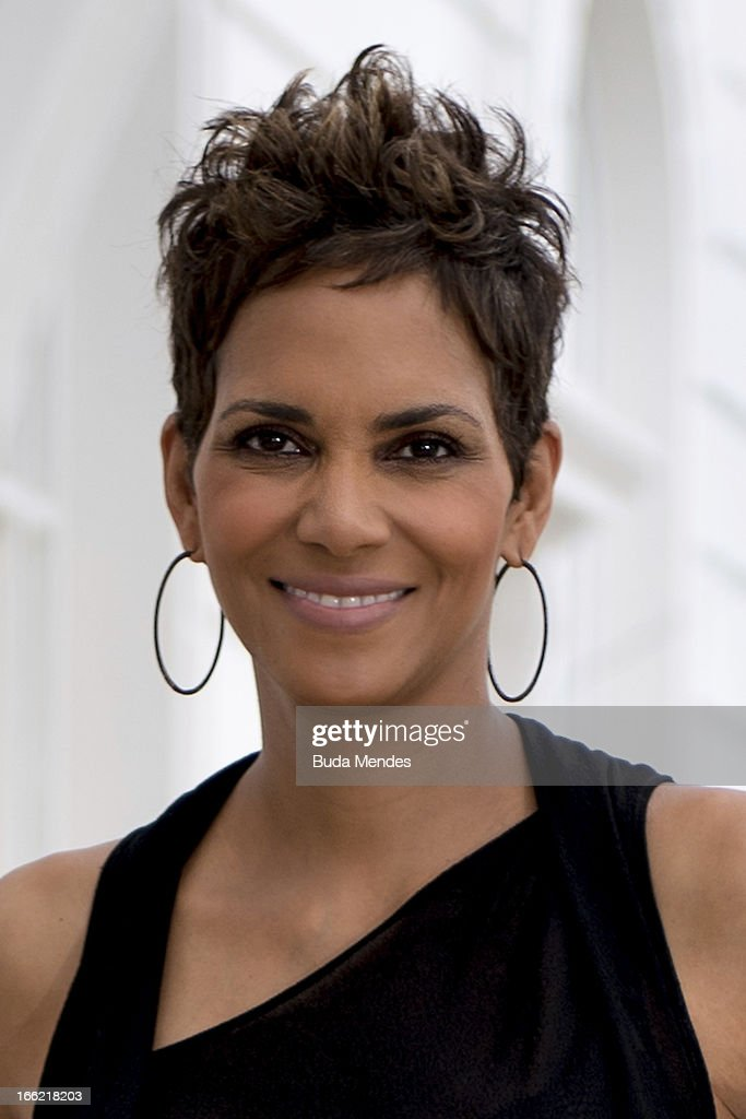 Portrait of American actress Halle Berry as she poses for a photo before a press conference to promote new film 'The Call' at Copacabana Palace on April 10, 2013 in Rio de Janeiro, Brazil.
