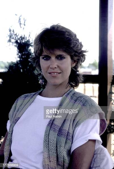 Portrait of American actress Pam Dawber as she poses during a visit to musican Tommy Shaw's residence Niles Michigan August 18 1983