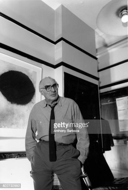 Portrait of American administrator Harvey Lichtenstein director of the Brooklyn Academy of Music as he stands with his hands in his pockets New York...