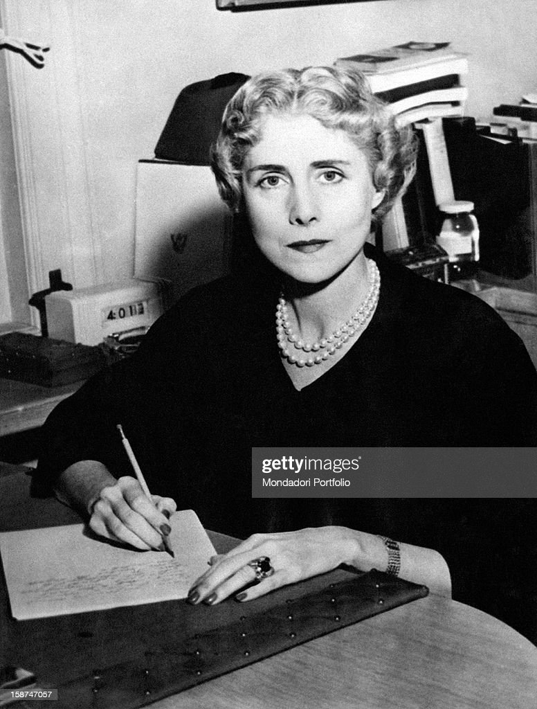 Portrait of American ambassadress in Italy <a gi-track='captionPersonalityLinkClicked' href=/galleries/search?phrase=Clare+Boothe+Luce&family=editorial&specificpeople=212742 ng-click='$event.stopPropagation()'>Clare Boothe Luce</a>. Ridgefield, 7th February 1953
