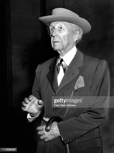Portrait of American architect Frank Lloyd Wright 1952