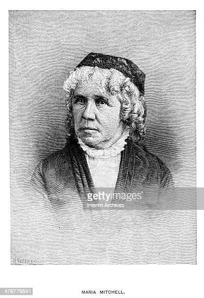 Portrait of American astronomer Maria Mitchell late nineteenth century Mitchell the first American female professional astronomer was also the first...