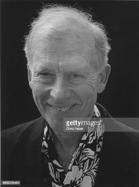 Portrait of American author and poet James D Houston as he smiles New Mexico 2000
