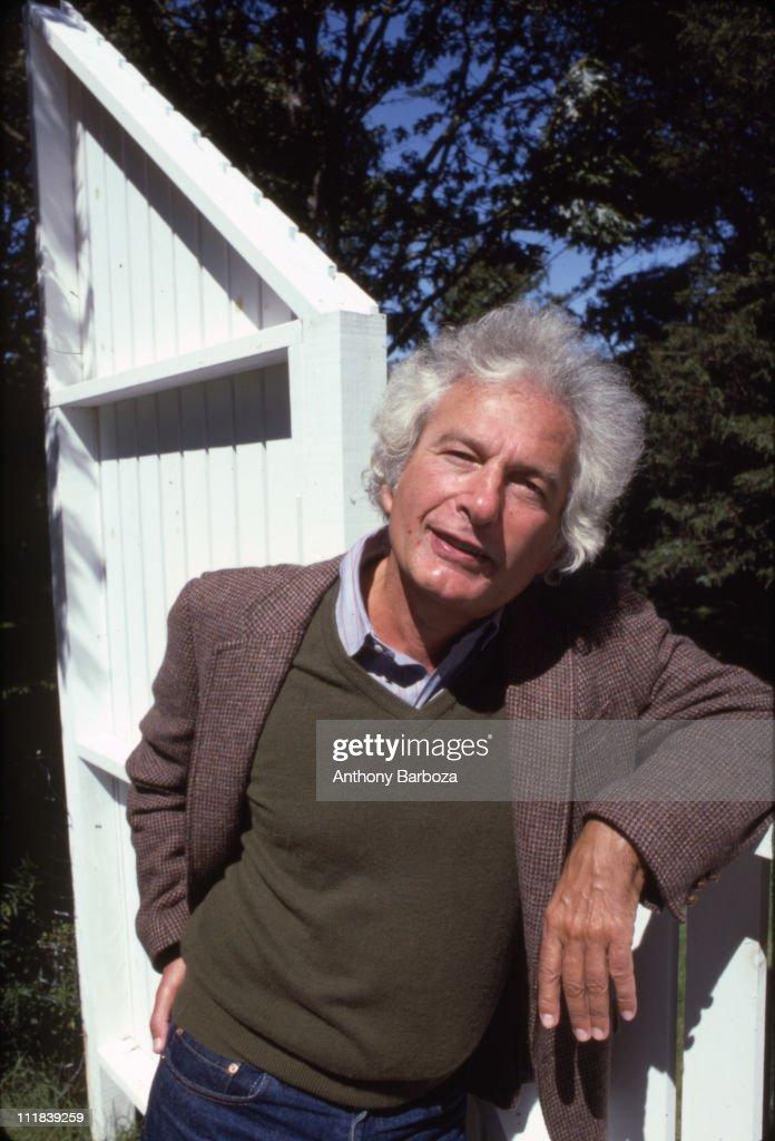 Portrait of American author Joseph Heller (1923 - 1999) in Long Island, NY, 1998.
