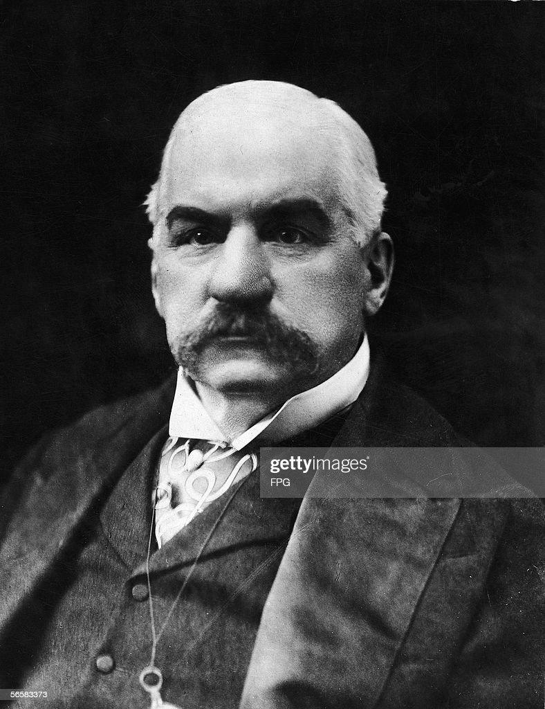 Portrait of American banker and financier John Pierpont Morgan Sr
