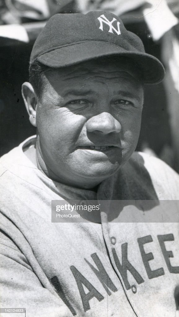 Portrait of American baseball player <a gi-track='captionPersonalityLinkClicked' href=/galleries/search?phrase=Babe+Ruth&family=editorial&specificpeople=94423 ng-click='$event.stopPropagation()'>Babe Ruth</a> (1895 - 1948), of the New York Yankees, 1930.