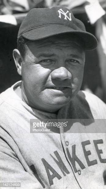 Portrait of American baseball player Babe Ruth of the New York Yankees 1930