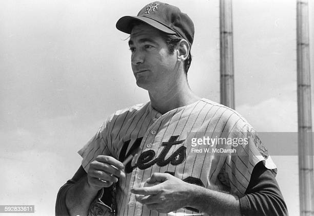 Portrait of American baseball player Ron Taylor of the New York Mets on the field New York New York August 20 1970