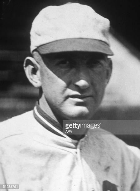 1919 Portrait of American baseball player 'Shoeless' Joe Jackson wearing his Chicago White Sox hat