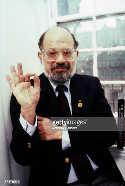 Portrait of American Beat poet Allen Ginsberg New York New York 1987
