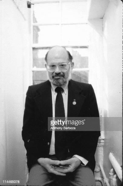 Portrait of American Beat poet Allen Ginsburg New York New York 1987